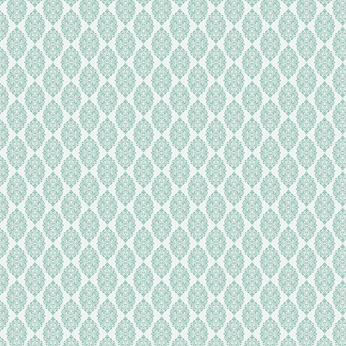 Westcott Modern Damask Matte Vinyl Backdrop with Hook-and-Loop Attachment (3.5 x 3.5', Light Turquoise)