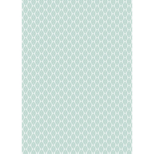 Westcott Modern Damask Art Canvas Backdrop with Grommets (5 x 7', Light Tuquoise)