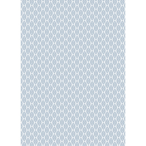 Westcott Modern Damask Art Canvas Backdrop with Grommets (5 x 7', Light Blue)