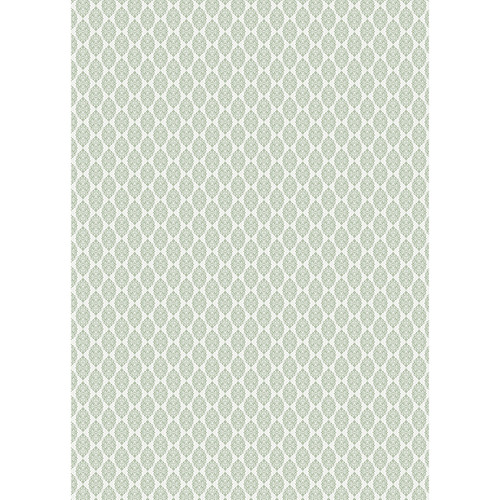 Westcott Modern Damask Art Canvas Backdrop with Grommets (5 x 7', Light Sage)