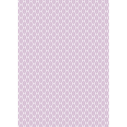 Westcott Modern Damask Art Canvas Backdrop with Grommets (5 x 7', Light Plum)