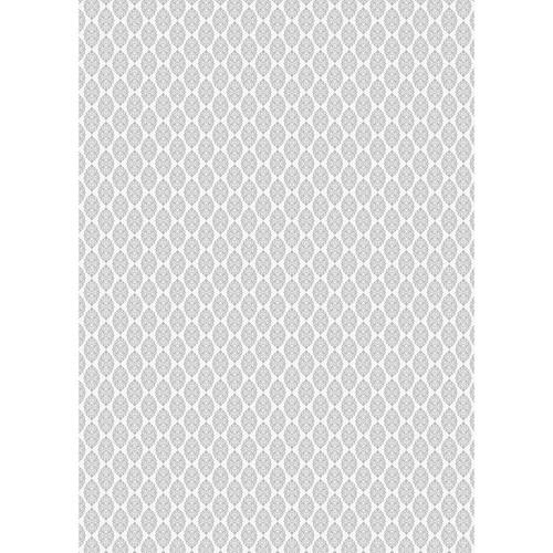 Westcott Modern Damask Matte Vinyl Backdrop with Grommets (5 x 7', Light Gray)