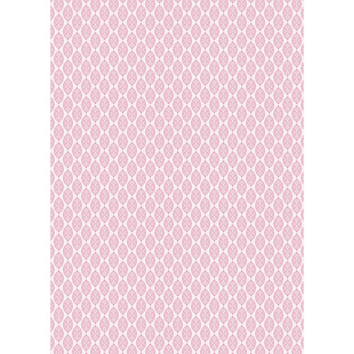 Westcott Modern Damask Matte Vinyl Backdrop with Grommets (5 x 7', Light Pink)