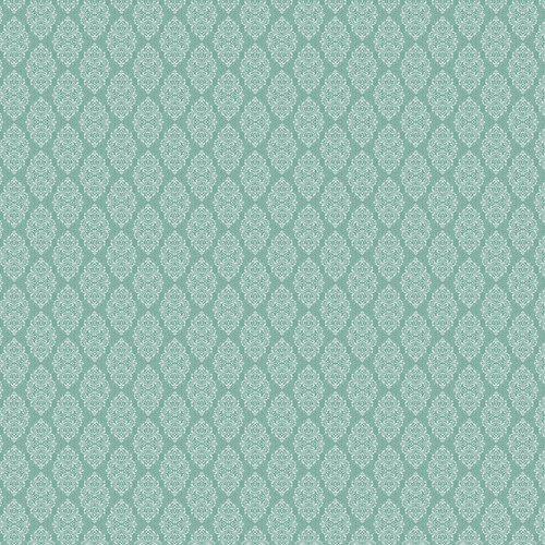 Westcott Modern Damask Art Canvas Backdrop with Hook-and-Loop Attachment (3.5 x 3.5', Vintage Teal)