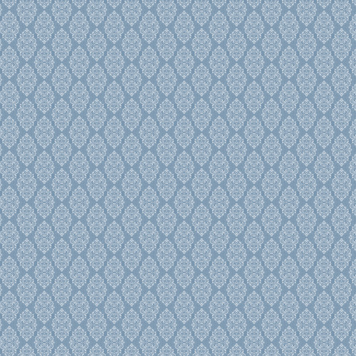Westcott Modern Damask Art Canvas Backdrop with Hook-and-Loop Attachment (3.5 x 3.5', Vintage Blue)