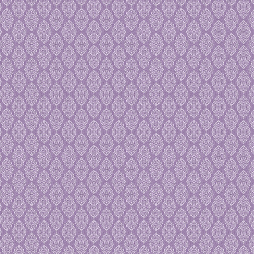 Westcott Modern Damask Art Canvas Backdrop with Hook-and-Loop Attachment (3.5 x 3.5', Vintage Purple)