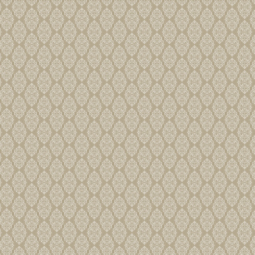 Westcott Modern Damask Art Canvas Backdrop with Hook-and-Loop Attachment (3.5 x 3.5', Vintage Tan)