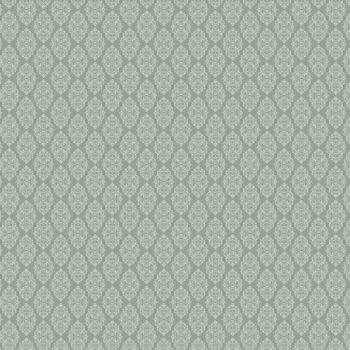 Westcott Modern Damask Matte Vinyl Backdrop with Hook-and-Loop Attachment (3.5 x 3.5', Vintage Green)