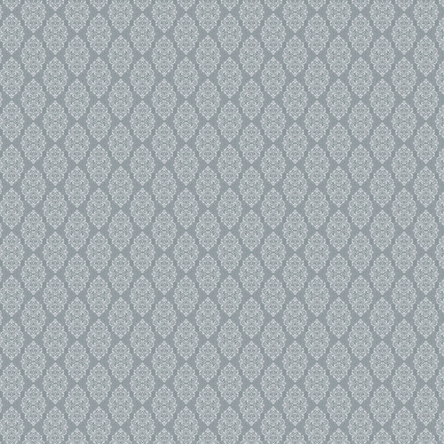 Westcott Modern Damask Matte Vinyl Backdrop with Hook-and-Loop Attachment (3.5 x 3.5', Vintage Gray)