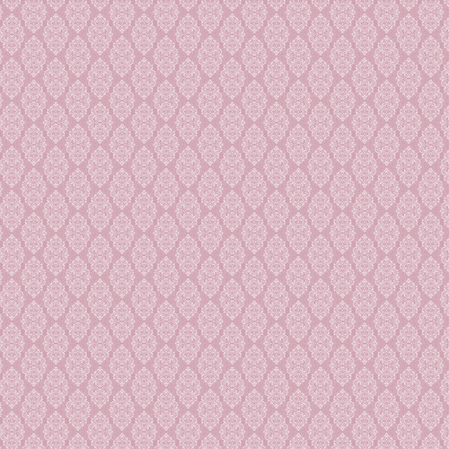 Westcott Modern Damask Matte Vinyl Backdrop with Hook-and-Loop Attachment (3.5 x 3.5', Vintage Pink)