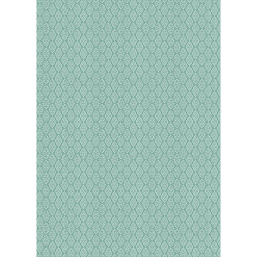 Westcott Modern Damask Art Canvas Backdrop with Grommets (5 x 7', Vintage Turquoise)