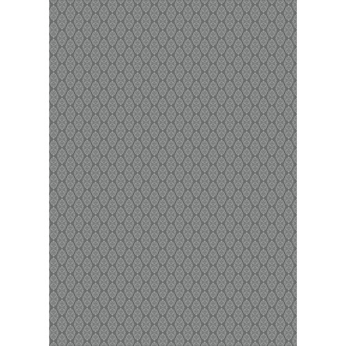 Westcott Modern Damask Art Canvas Backdrop with Grommets (5 x 7', Vintage Black)