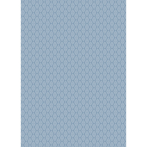Westcott Modern Damask Art Canvas Backdrop with Grommets (5 x 7', Vintage Blue)