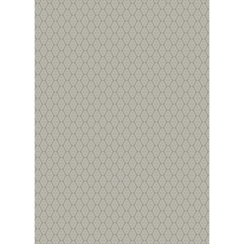 Westcott Modern Damask Art Canvas Backdrop with Grommets (5 x 7', Vintage Brown)