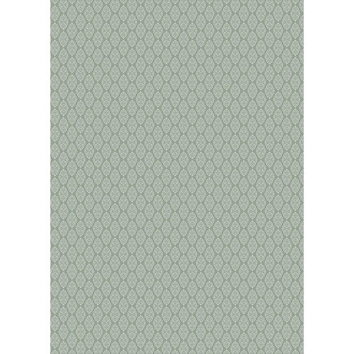 Westcott Modern Damask Art Canvas Backdrop with Grommets (5 x 7', Vintage Green)