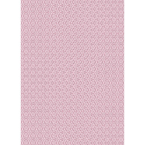 Westcott Modern Damask Art Canvas Backdrop with Grommets (5 x 7', Vintage Pink)