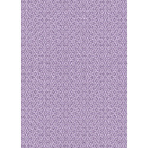 Westcott Modern Damask Art Canvas Backdrop with Grommets (5 x 7', Vintage Purple)