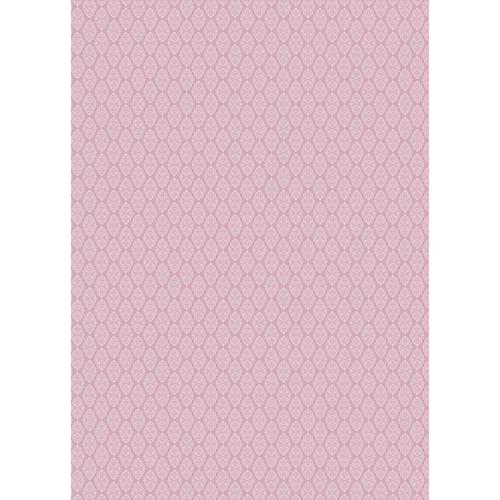 Westcott Modern Damask Matte Vinyl Backdrop with Grommets (5 x 7', Vintage Pink)