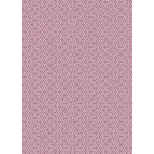 Westcott Modern Damask Matte Vinyl Backdrop with Grommets (5 x 7', Vintage Red)