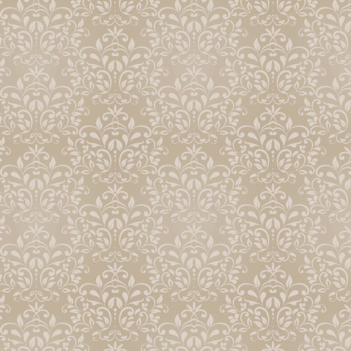 Westcott Leafy Damask Art Canvas Backdrop with Hook-and-Loop Attachment (3.5 x 3.5', Brown)