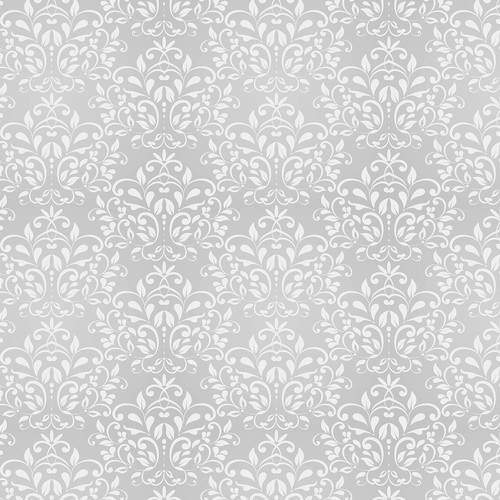 Westcott Leafy Damask Art Canvas Backdrop with Hook-and-Loop Attachment (3.5 x 3.5', Gray)