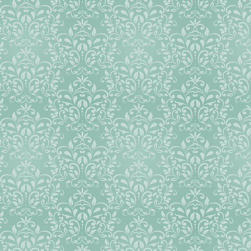 Westcott Leafy Damask Matte Vinyl Backdrop with Hook-and-Loop Attachment (3.5 x 3.5', Turquoise)