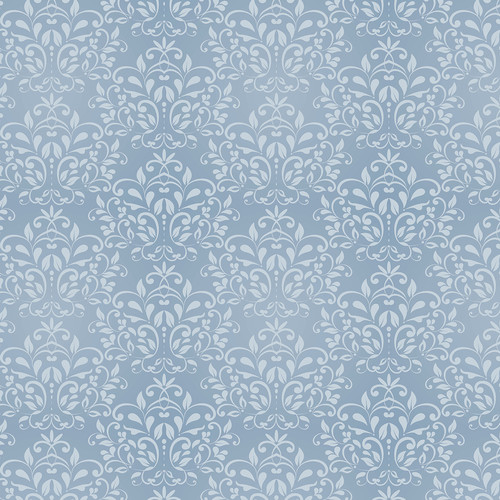 Westcott Leafy Damask Matte Vinyl Backdrop with Hook-and-Loop Attachment (3.5 x 3.5', Blue)