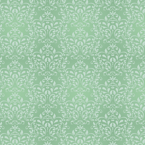 Westcott Leafy Damask Matte Vinyl Backdrop with Hook-and-Loop Attachment (3.5 x 3.5', Green)