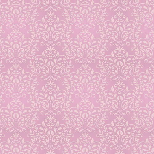 Westcott Leafy Damask Matte Vinyl Backdrop with Hook-and-Loop Attachment (3.5 x 3.5', Pink)