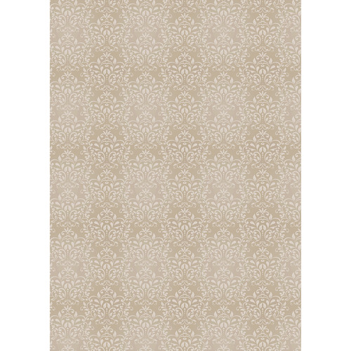 Westcott Leafy Damask Art Canvas Backdrop with Grommets (5 x 7', Brown)