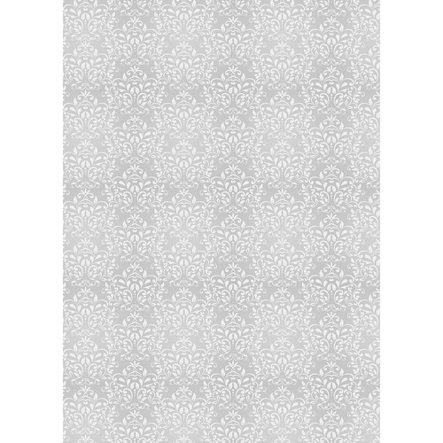 Westcott Leafy Damask Art Canvas Backdrop with Grommets (5 x 7', Gray)