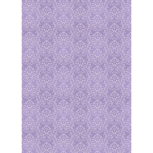 Westcott Leafy Damask Art Canvas Backdrop with Grommets (5 x 7', Purple)