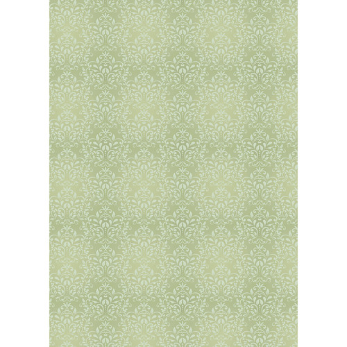 Westcott Leafy Damask Art Canvas Backdrop with Grommets (5 x 7', Yellow)