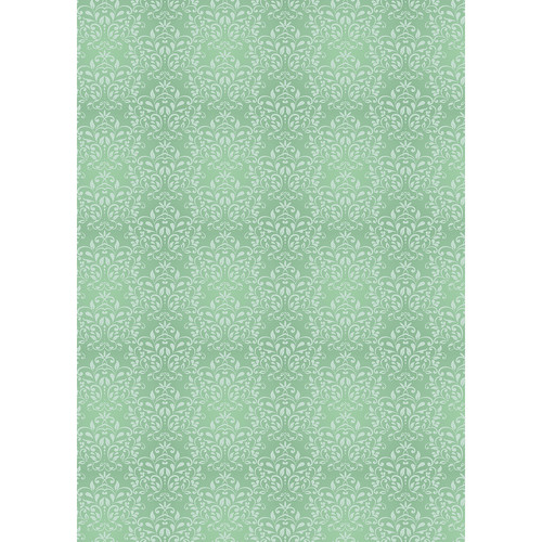 Westcott Leafy Damask Matte Vinyl Backdrop with Grommets (5 x 7', Green)