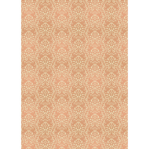 Westcott Leafy Damask Matte Vinyl Backdrop with Grommets (5 x 7', Orange)