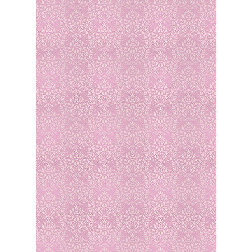 Westcott Leafy Damask Matte Vinyl Backdrop with Grommets (5 x 7', Pink)