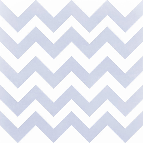 Westcott Pastel Chevron Art Canvas Backdrop with Hook-and-Loop Attachment (3.5 x 3.5', Blue)
