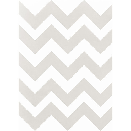 Westcott Pastel Chevron Art Canvas Backdrop with Grommets (5 x 7', Brown)