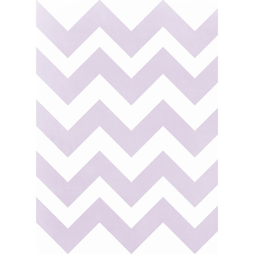 Westcott Pastel Chevron Art Canvas Backdrop with Grommets (5 x 7', Purple)