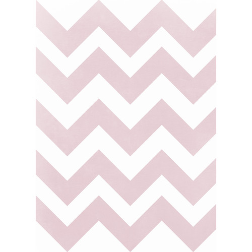 Westcott Pastel Chevron Art Canvas Backdrop with Grommets (5 x 7', Red)