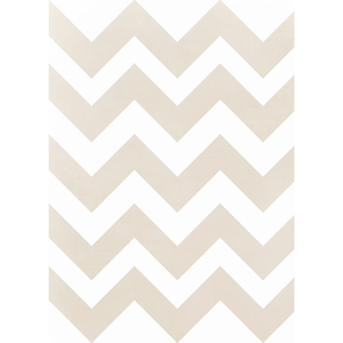 Westcott Pastel Chevron Art Canvas Backdrop with Grommets (5 x 7', Yellow)
