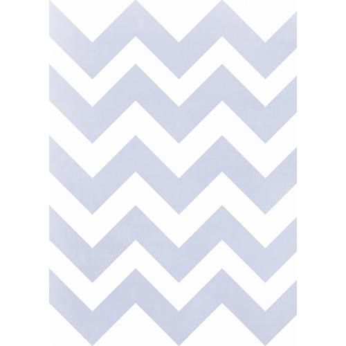 Westcott Pastel Chevron Matte Vinyl Backdrop with Grommets (5 x 7', Blue)