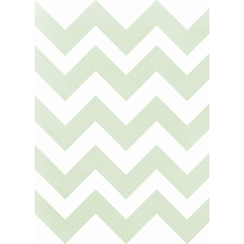 Westcott Pastel Chevron Matte Vinyl Backdrop with Grommets (5 x 7', Green)