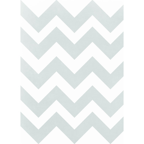 Westcott Pastel Chevron Matte Vinyl Backdrop with Grommets (5 x 7', Gray)