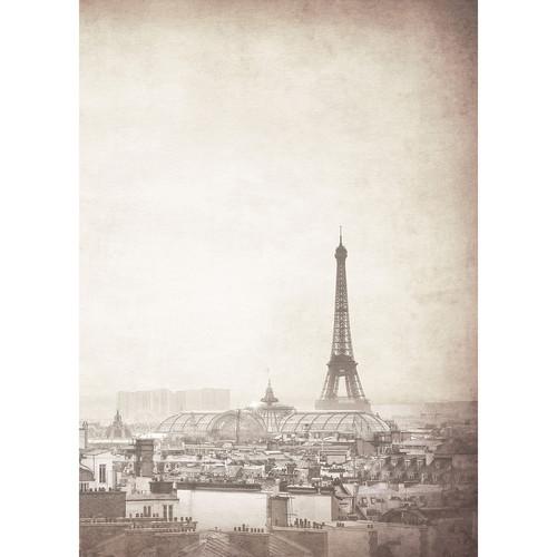 Westcott Parisian Skyline Matte Vinyl Backdrop with Grommets (5 x 7', Gray)
