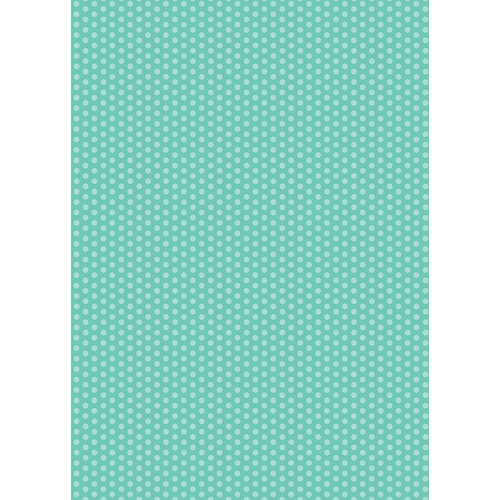 Westcott Small Dots Art Canvas Backdrop with Grommets (5 x 7', Turquoise)