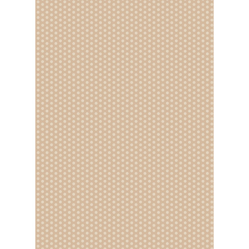 Westcott Small Dots Art Canvas Backdrop with Grommets (5 x 7', Brown)