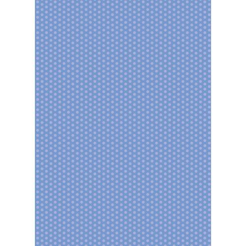 Westcott Small Dots Matte Vinyl Backdrop with Grommets (5 x 7', Blue)
