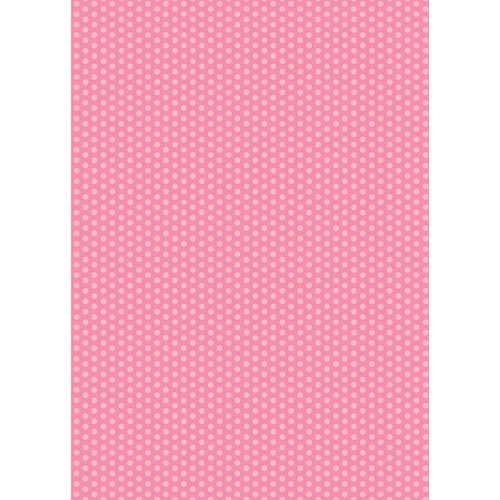 Westcott Small Dots Matte Vinyl Backdrop with Grommets (5 x 7', Pink)