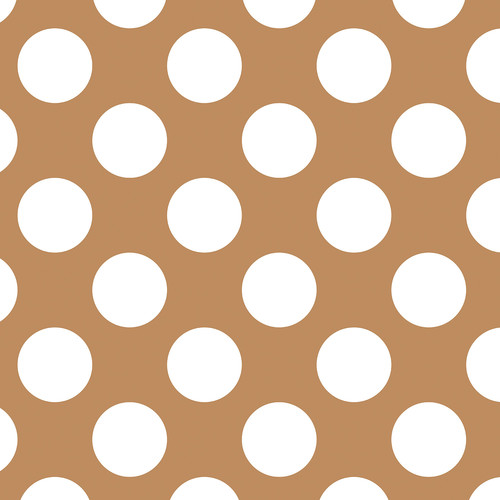 Westcott Large Dots Art Canvas Backdrop with Hook-and-Loop Attachment (3.5 x 3.5', Brown)